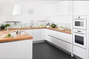 cuisine bois tabouret de cuisine bois blanc With cuisine blanc laque plan travail bois