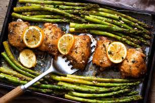 garlic butter chicken recipe and asparagus eatwell101