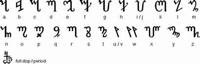 Fonts Alphabet Theban Witch Script Runes Magickal
