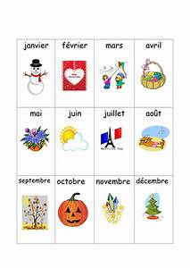 French Months Matching Cards