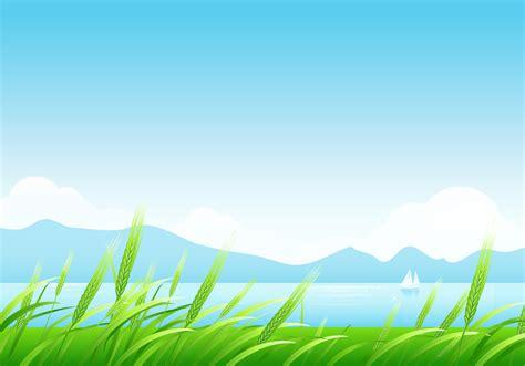 spring wheat  mountains landscape wallpaper