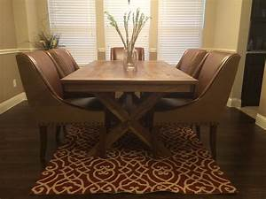 Customer Photo Cross Leg Dining Table Nadeau Blog