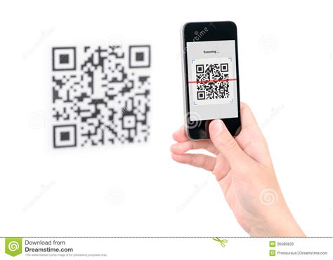 how do i scan a qr code with my iphone capture qr code on mobile phone stock photos image 26585833