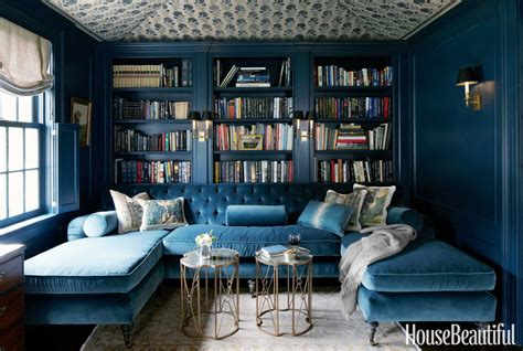 Monochromatic Blue Living Room by 21 Different Style To Decorate Home With Blue Velvet Sofa