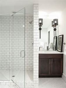 Subway tiles with dark grout home design ideas pictures for Houzz com bathroom tile