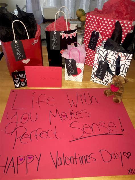 senses gift   happy valentines day babe diy