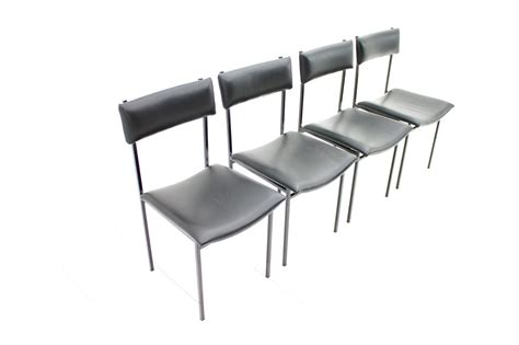 Metal Und Leather Dining Chairs, 1960s, Set Of 4 For Sale At Pamono Chair Warehouse Brooklyn Racks For Folding Chairs Kohls Patio 2 Plastic Garden Hang A Round Outdoor White Rocking Eames Molded Fiberglass With Cane Seats