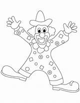 Clown Coloring Pages Clowns Printable Gangster Template Popular Coloringhome sketch template