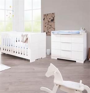Chambre Enfant Blanc : pinolino chambre b b polar blanc lit volutif commode ~ Teatrodelosmanantiales.com Idées de Décoration