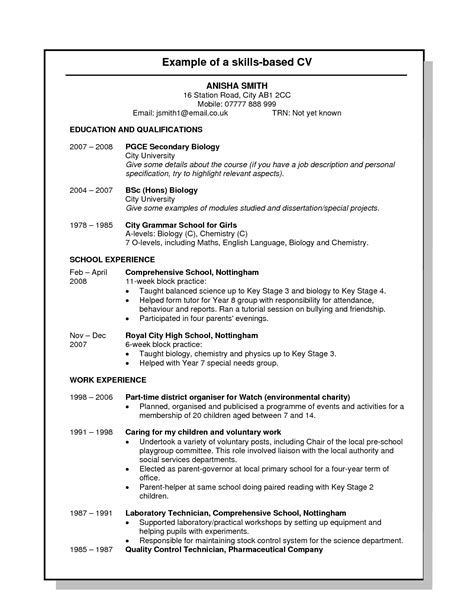 Skills For Cv by Skills On Resume Exle Skills Based Resume Template 00