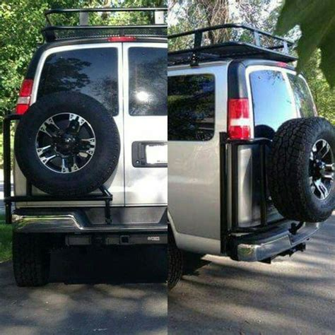 aluminess chevy tire rack chevy vans  aluminess