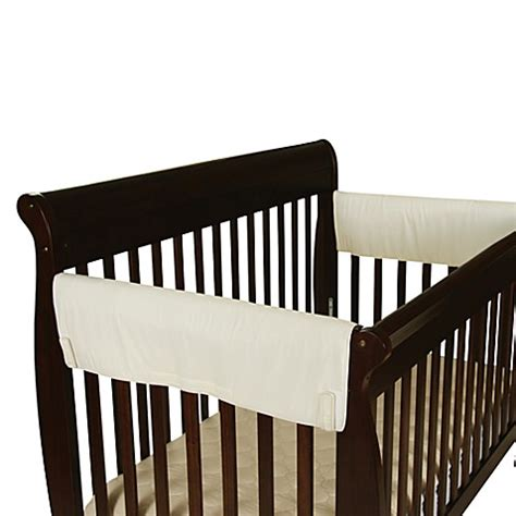 crib side rail covers leachco 174 easy teether large side rail crib rail