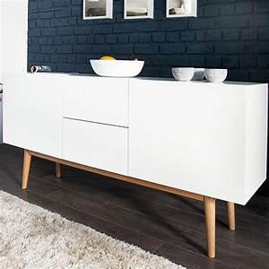Kommode Mit Füßen : design sideboard lisboa wei 150cm mit eiche f en kommode board aufbewahrung ebay ~ Orissabook.com Haus und Dekorationen