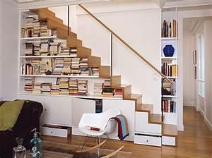 Rangement Sous Escalier Gagner En Espace De Rangement