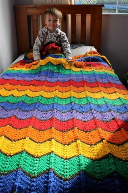 Western Pattern Blanket Hills Above Crochet Knitting