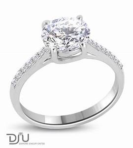 2 carat d vs1 round solitaire diamond engagement ring set With wedding rings 2 carat diamond