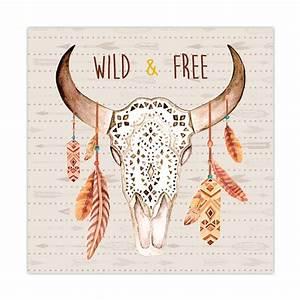Tete De Buffle : cadre t te de buffle 30 x 30 cm wild free toilinux ~ Teatrodelosmanantiales.com Idées de Décoration