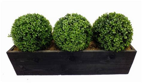 artificial boxwood topiary ball trough by artificial