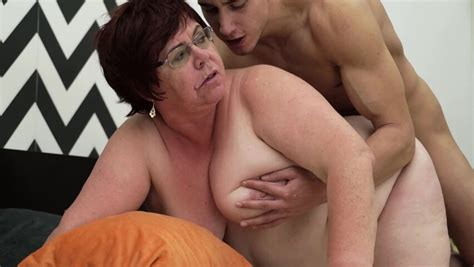 Fat Old Woman Is Getting Penetrated By A Horny Young Man