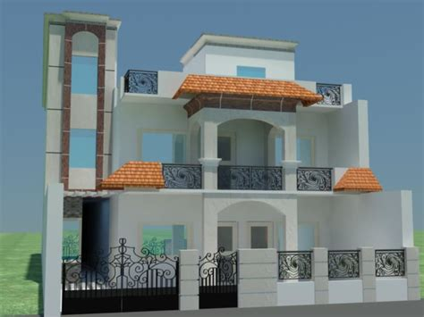Modern Front Elevation Small House