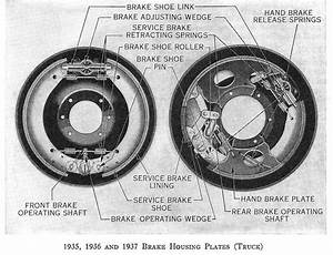 1935 1936 1937 Ford Truck And Commercial Brake Part Illustrated Diagram  U0026 Breakdown