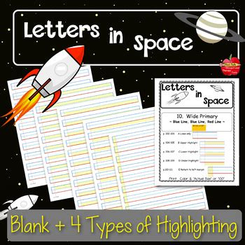 adapted handwriting paper highlighted  dysgraphia special  autism rti