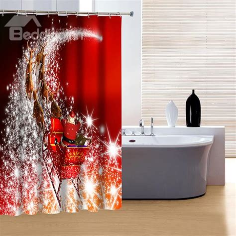 beautiful christmas shower curtains it s christmas time