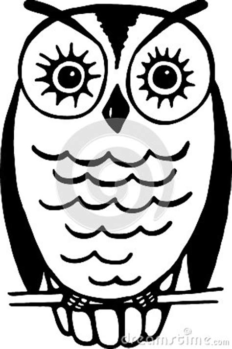simple owl drawings black and white owl stock image image 30430991