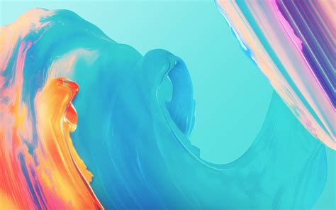 wallpaper paint colorful waves oneplus  stock hd