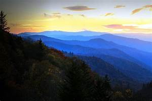 Oconaluftee Valley Overlook Fall Sunrise Gsmnp Photograph