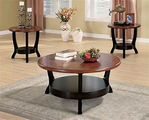 round modern coffee table sets With modern coffee table and end table set