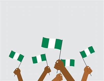 Nigeria Vector Holding Background Hands Independence Isolated