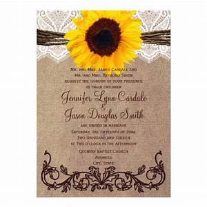 rustic country sunflower wedding invitations 5quot x 7 With country wedding invitations with pictures