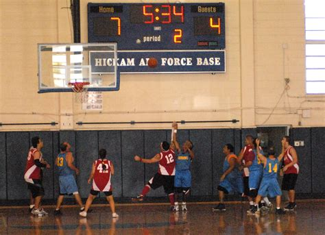 filespecial olympians play basketball   hickam gym