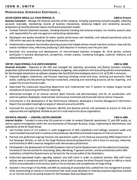 financial controller resume sample httpresumesdesign