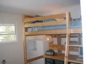 ikea loft bed with desk wood loft bed w desk