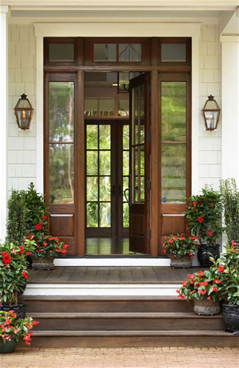 Pella Outswing French Patio Doors by Glass Paned Doors Traditional Home Exterior Linda