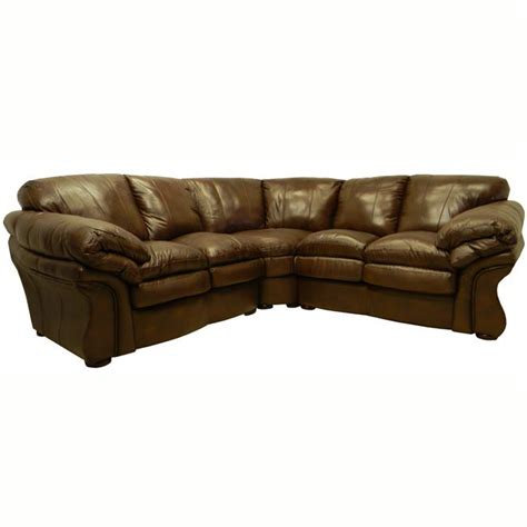 Unique Overstock Leather Sofas #5 Brown Leather Sectional