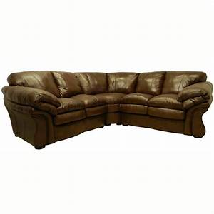 Unique overstock leather sofas 5 brown leather sectional for Small sectional sofa overstock