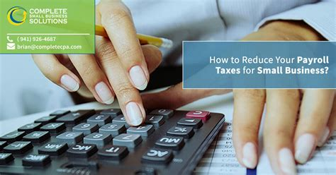 reduce  payroll taxes  small business