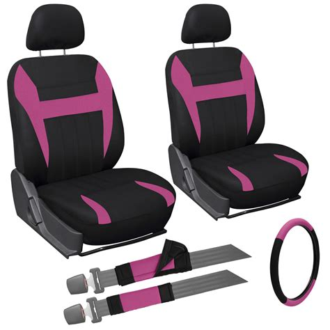 pink and black car seat 9 pink and black front car seat cover set