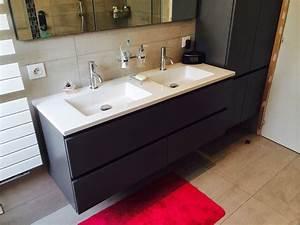 Meuble Salle De Bain Asymétrique : r novation d 39 une salle de bain avec baignoire asym trique et armoire de toilette encastr e ~ Nature-et-papiers.com Idées de Décoration