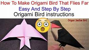 How To Make Paper Bird Flying Origami  Oragami Bird Tutorial   Origami Bird