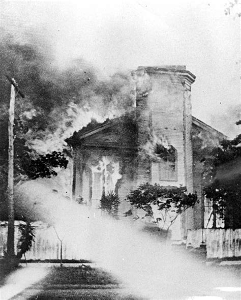 Cook Sheds Jacksonville Fl by Florida Memory Methodist Church Burning Jacksonville