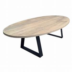 Table de salle a manger ovale topaze classic deco en for Table salle a manger ovale