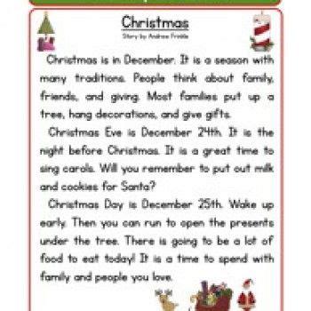 2nd grade grammar christmas second grade reading comprehension worksheet stories reading