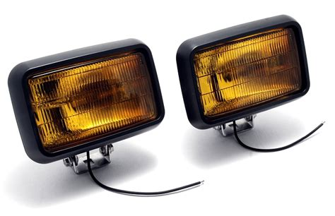 Led Hand Lamp by 591 2 4 Quot X 6 Quot Rectangular Amber Foglights Pair
