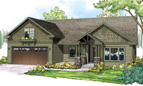 craftsman house plan    bedroom  sq ft home