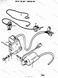 Suzuki Motorcycle 1977 Oem Parts Diagram For Cdi Unit