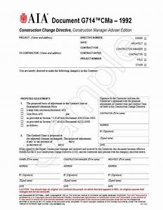 g714cma 1992 construction change directive construction With aia document g702 cma